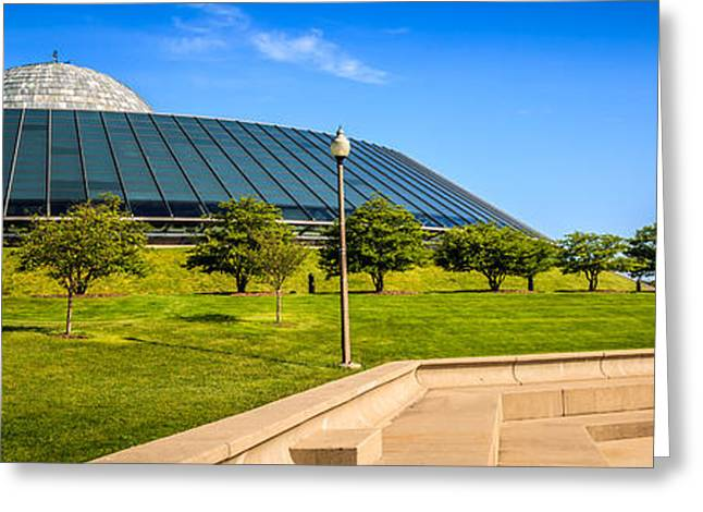 Chicago Adler Planetarium Panorama Picture Greeting Card by Paul Velgos