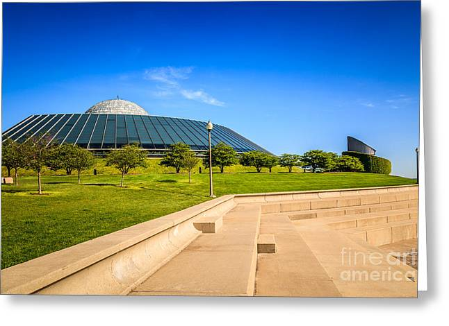 Chicago Adler Planetarium Picture Greeting Card by Paul Velgos