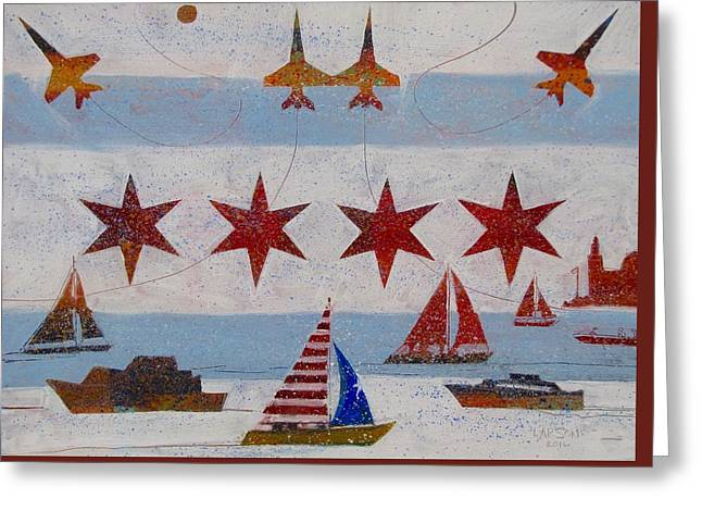 Chicago Air And Water Show Greeting Card by Rob Larson