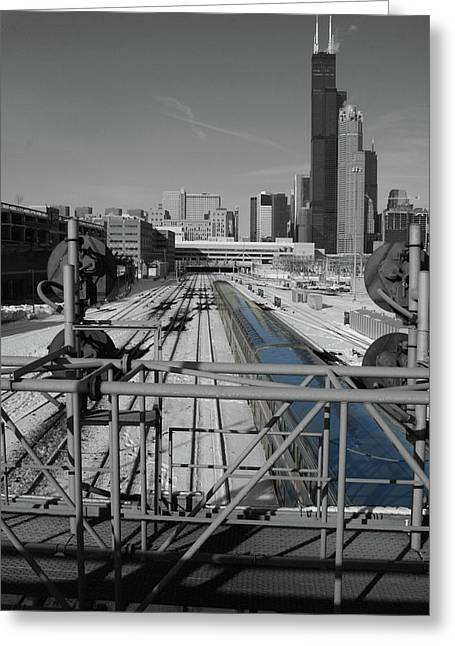 Chicago Amtrak Greeting Card
