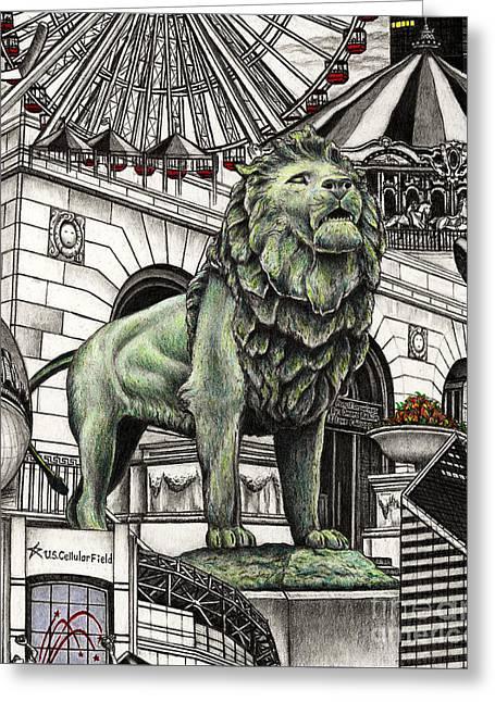 Chicago Art Institute Lion Greeting Card