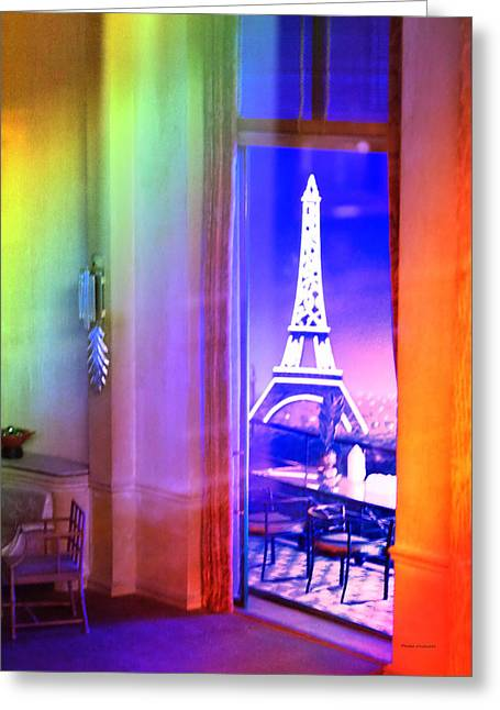 Chicago Art Institute Miniature Paris Room Pa Prismatic 08 Vertical Greeting Card by Thomas Woolworth