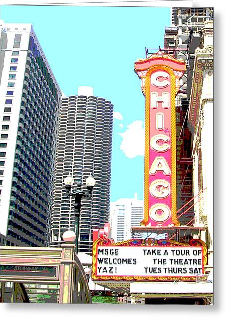 Chicago Greeting Card by Audrey Venute