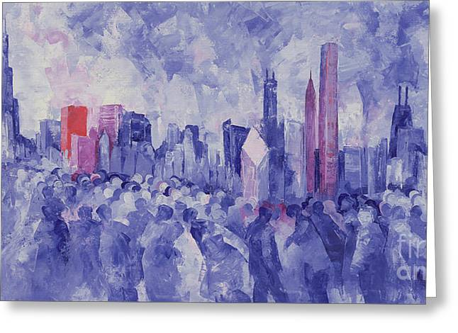 Chicago Greeting Card by Bayo Iribhogbe