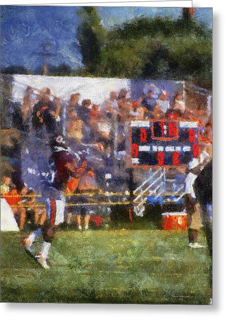 Chicago Bear Camp The Catch Pa 02 Vertical Greeting Card by Thomas Woolworth