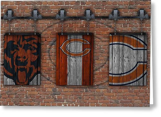 Chicago Bears Brick Wall Greeting Card