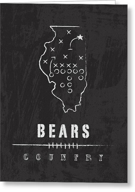 Chicago Bears Art - Nfl Football Wall Print Greeting Card by Damon Gray