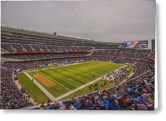 Chicago Bears Soldier Field 7785 Greeting Card by David Haskett
