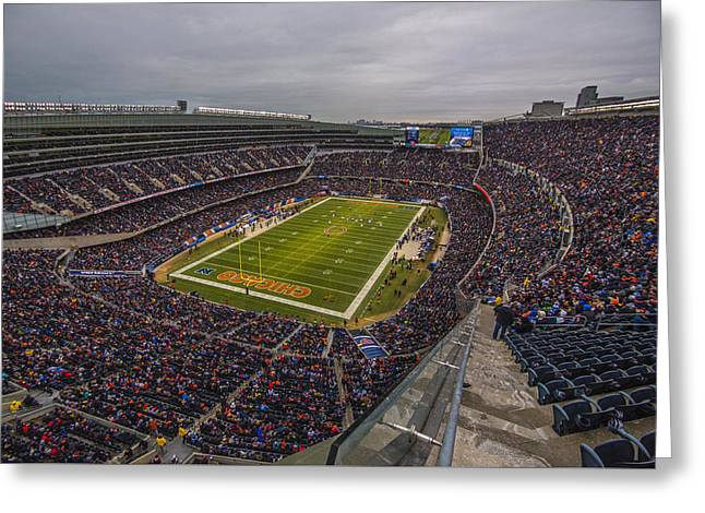 Chicago Bears Soldier Field 7790 Greeting Card by David Haskett