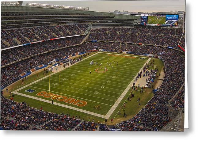 Chicago Bears Soldier Field 7795 Greeting Card