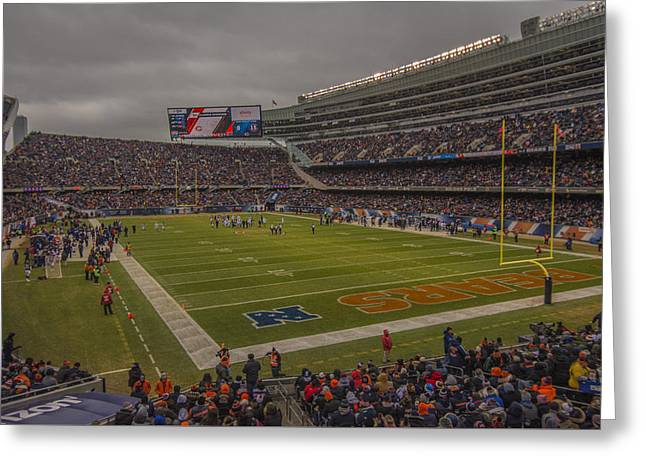 Chicago Bears Soldier Field 7848 Greeting Card by David Haskett