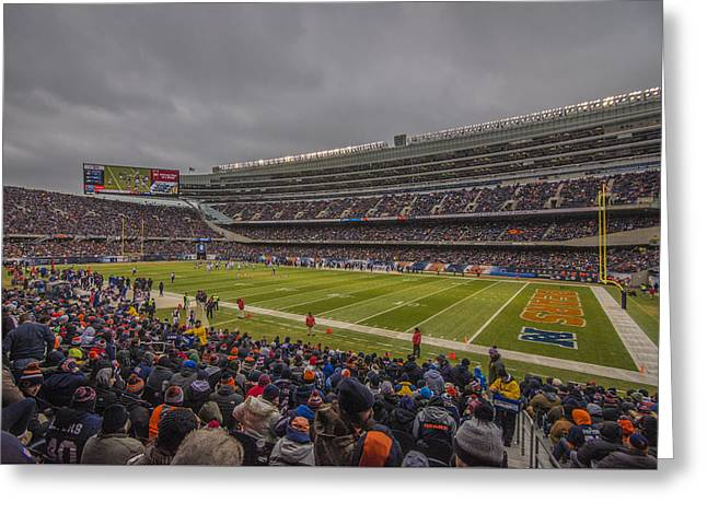 Chicago Bears Soldier Field 7858 Greeting Card by David Haskett