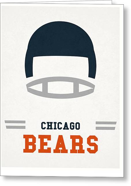 Chicago Bears Vintage Art Greeting Card by Joe Hamilton