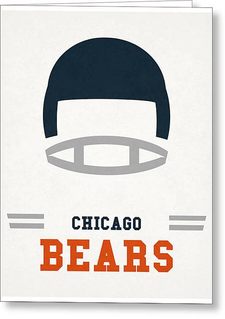 Chicago Bears Vintage Art Greeting Card