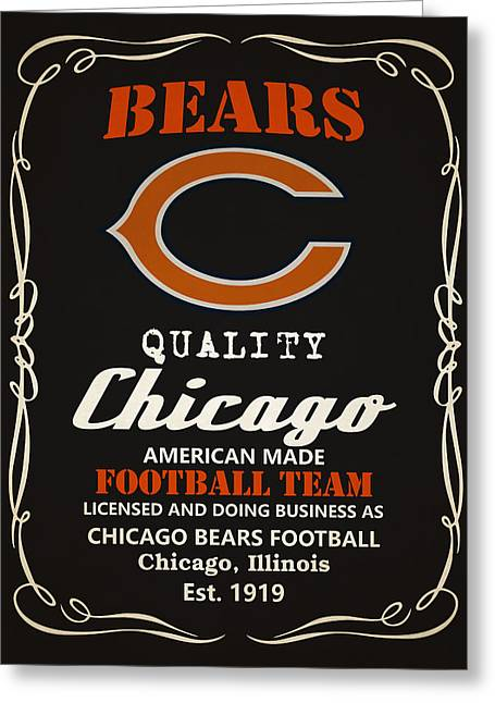 Chicago Bears Whiskey Greeting Card