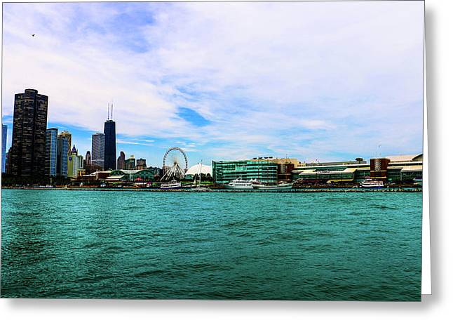 Chicago Blue Greeting Card