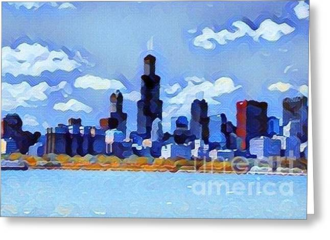 Chicago Blues Greeting Card by Douglas Sacha