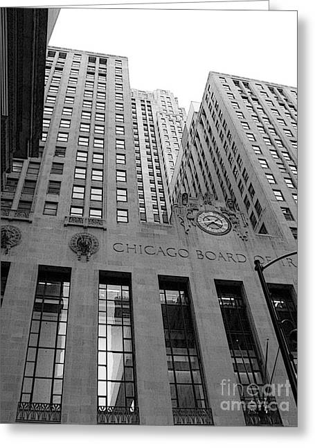 Chicago Board Of Trade Greeting Card by David Bearden
