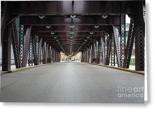 Chicago Bridges Greeting Card