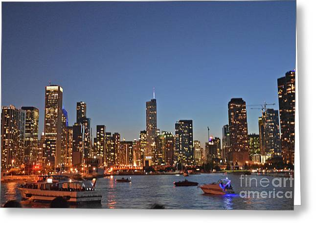 Chicago Bright Greeting Card by Andrea Simon