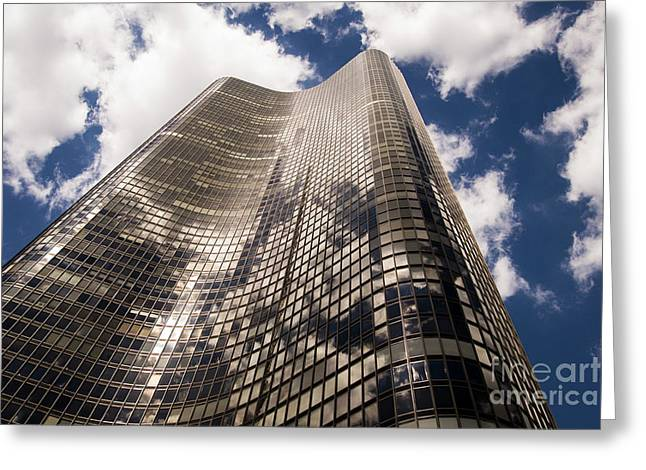 Greeting Card featuring the photograph Chicago Building by Zawhaus Photography