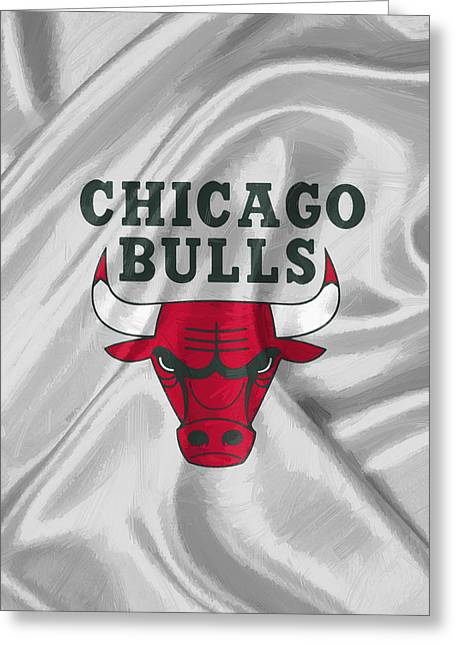 Chicago Bulls Greeting Card by Afterdarkness