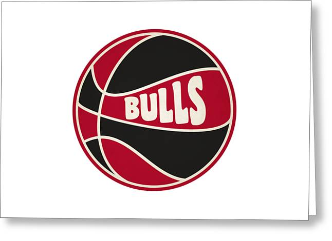 Chicago Bulls Retro Shirt Greeting Card