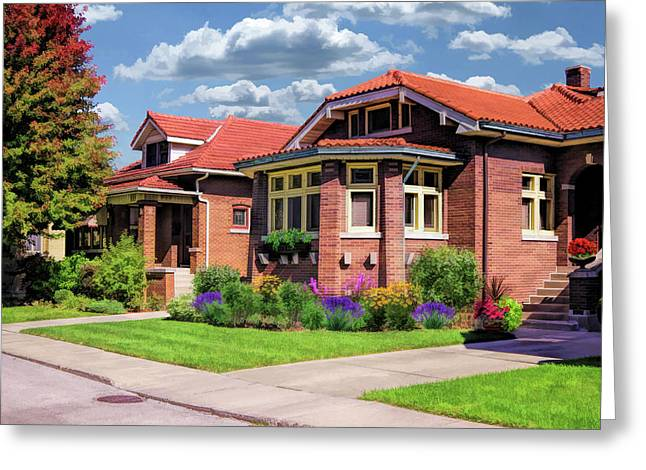 Chicago Bungalows Greeting Card