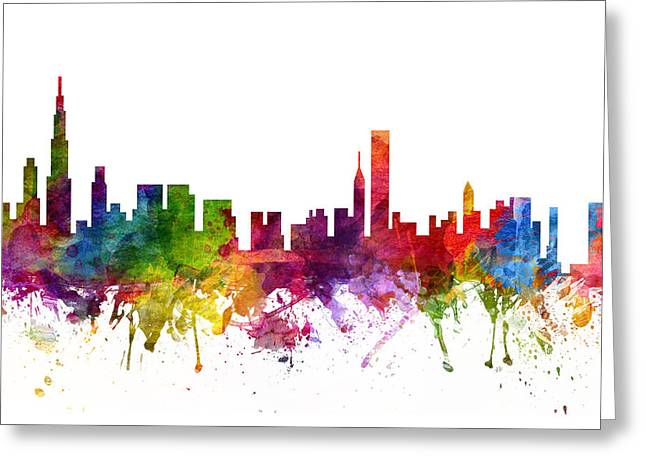 Chicago Cityscape 06 Greeting Card