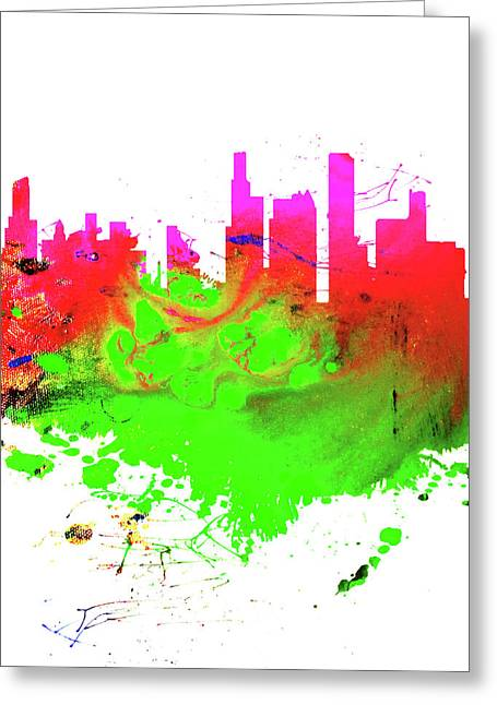 Chicago Cityscape 1a Greeting Card
