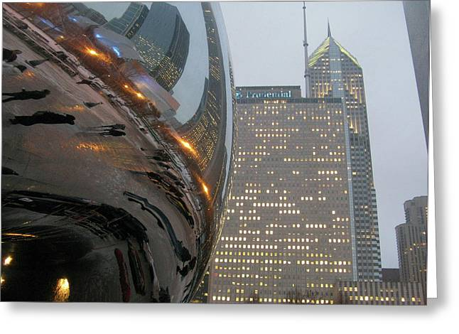 Greeting Card featuring the photograph Chicago Cloud Gate. Reflections by Ausra Huntington nee Paulauskaite