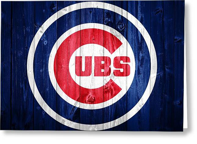 Chicago Cubs Barn Door Greeting Card