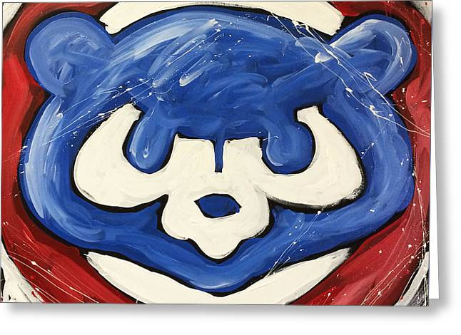Chicago Cubs Greeting Card by Elliott From