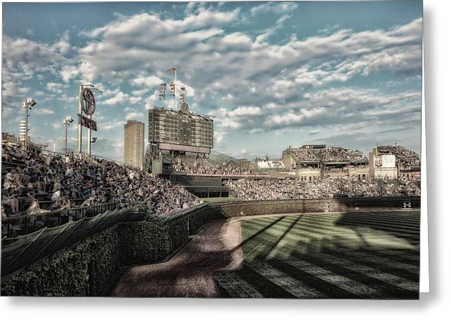 Chicago Cubs Original Scoreboard 05 Greeting Card by Thomas Woolworth