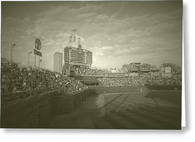 Chicago Cubs Original Scoreboard Vintage Greeting Card by Thomas Woolworth