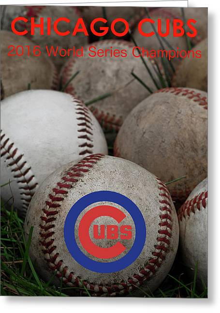 Chicago Cubs World Series Poster Greeting Card