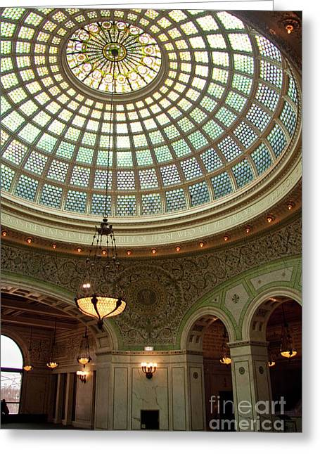 Chicago Cultural Center Dome Greeting Card
