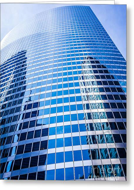 Chicago Curved Glass Building Architecture Greeting Card by Paul Velgos