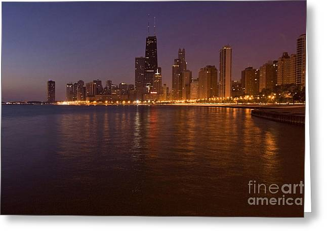 Chicago Dawn Greeting Card by Sven Brogren
