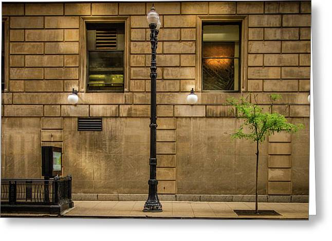 Chicago Dearborn Street Greeting Card