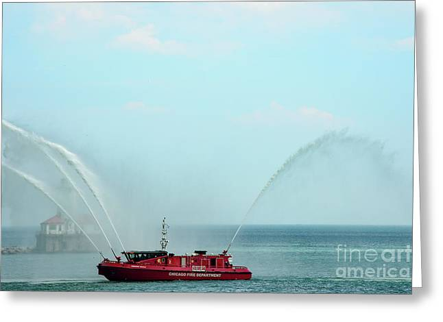 Chicago Fire Department Fireboat Greeting Card