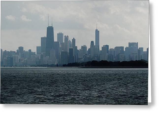 Chicago From Belmont Harbor Greeting Card