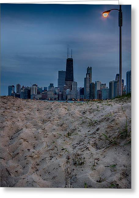 Chicago From North Avenue Beach Greeting Card