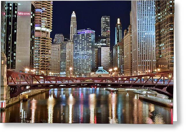 Chicago Full City View Greeting Card by Frozen in Time Fine Art Photography