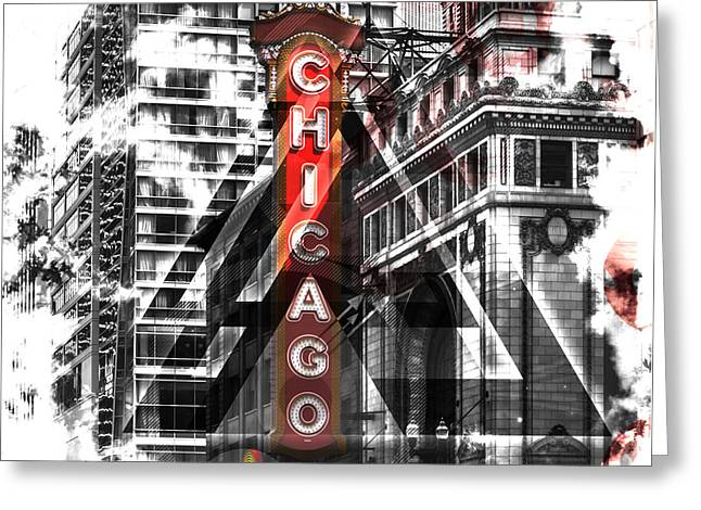 Chicago Geometric Mix No. 2 Greeting Card by Melanie Viola
