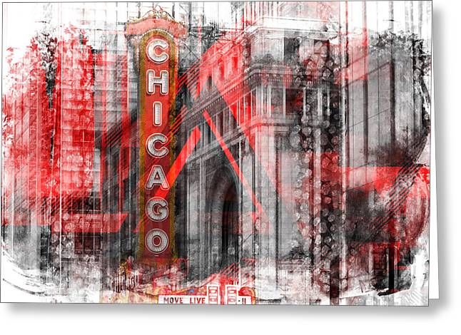 Chicago Geometric Mix No. 4 Greeting Card by Melanie Viola