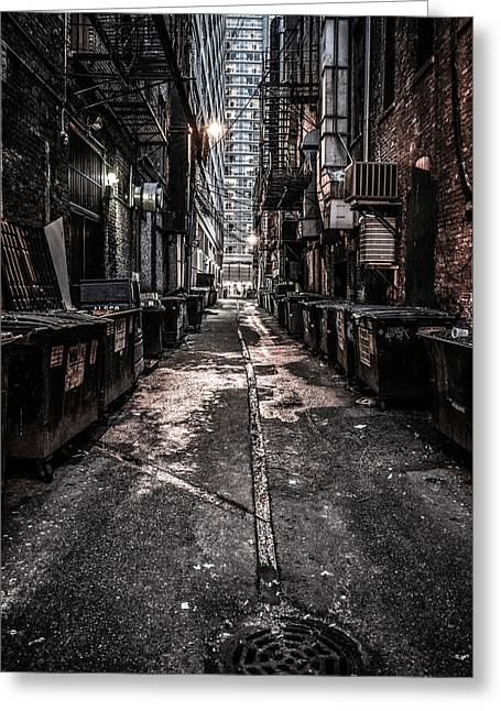 Chicago Gotham Greeting Card by Jeremy Rickman