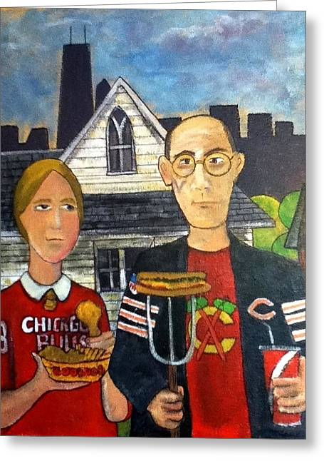 Chicago Gothic Greeting Card by Richard  Hubal
