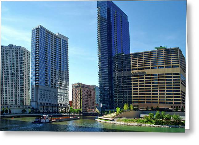 Chicago Heading Up The North River Branch Greeting Card by Thomas Woolworth