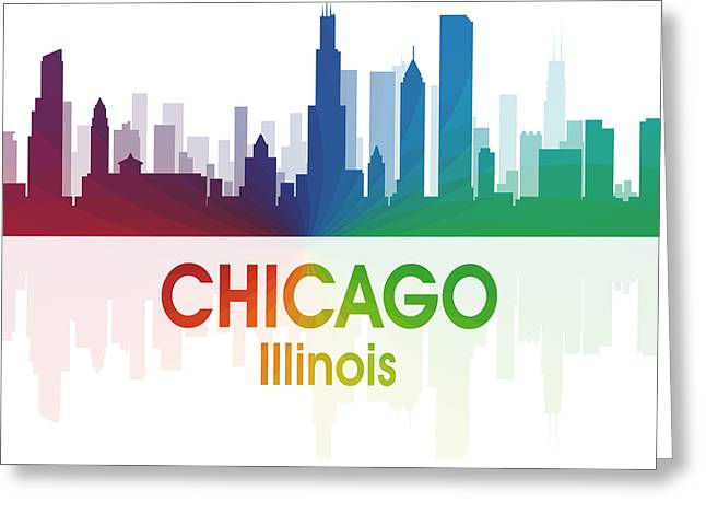 Chicago Il Greeting Card by Angelina Vick